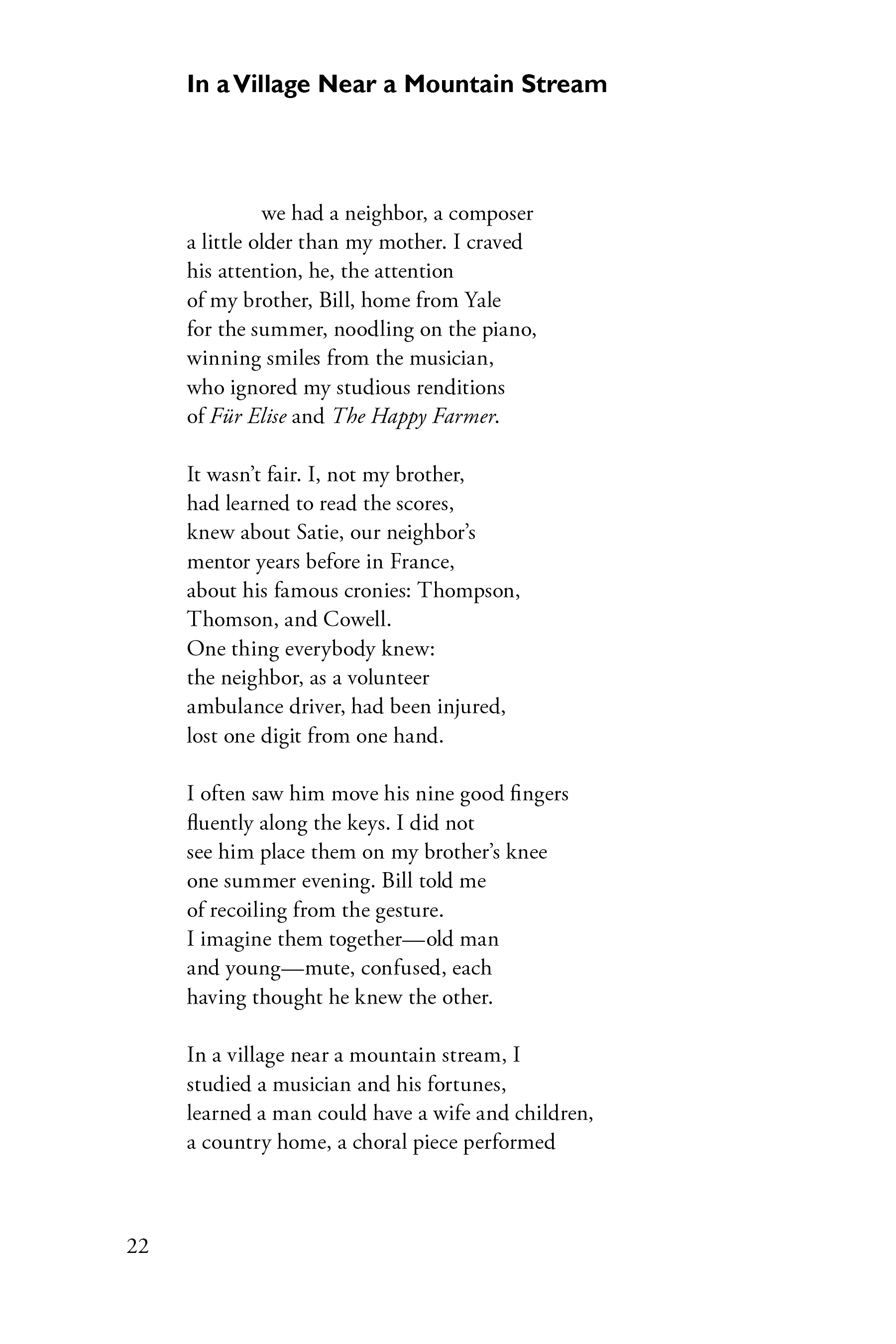 One Sarah White poem from